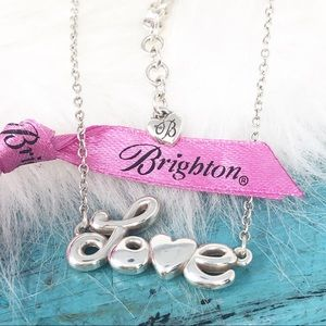 Brighton Love Is All You Need Script Necklace